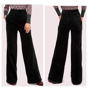 Kate Spade Cord Flare Pants Evergreen Sz 2